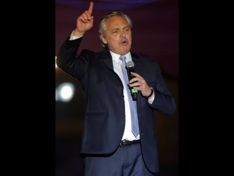 President of Argentina Alberto Fernández. AP