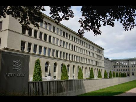 The WTO building.