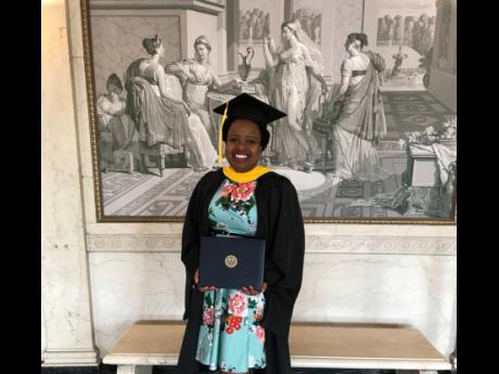 Monique Mendes graduating from Rochester University in the United States.