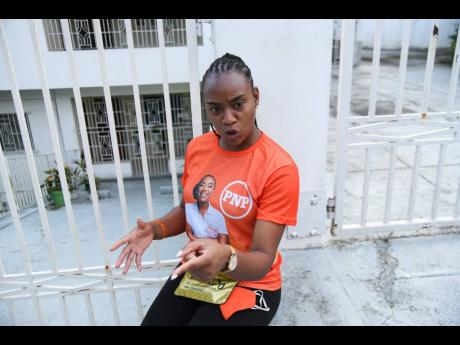 Krystal Tomlinson, PNPYO president and losing candidate in the St Andrew West Rural seat. The youth group has given Dr Peter Phillips 30 days to pack his bags and go as party president and opposition leader.