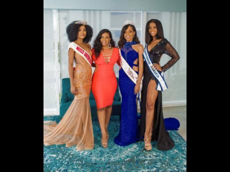 From left: Shanique Thompson, Miss Universe Jamaica Central; Soyini Phillips, franchise holder for Miss Jamaica Universe Central and Eastern; Alexia Royal Eatmon, Miss Universe Jamaica East; and Iana Tickle Garcia, Miss Universe Jamaica 2019.