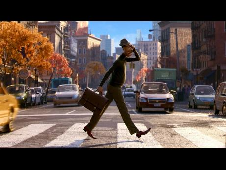 A scene from the animated film, 'Soul', starring the voice of Jamie Foxx.