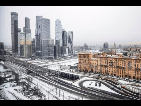 Moscow under a sheet of snow.