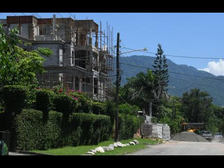 The multifamily dwelling under construction at 9 Evans Avenue in St Andrew