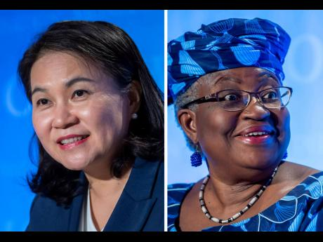 AP A photo combo of the candidates for the post of WTO director general, Yoo Myung-hee of South Korea (left) and Ngozi Okonjo-Iweala of Nigeria.