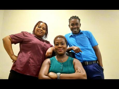 From left: Consolidated Freight Line Shipping Jamaica's customer service agent Keneisha Reid-Morris; Sales and Marketing Manager Michelle Hutchinson; and logistics agent Chevaughn Campbell.