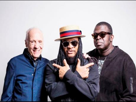From left, 70s rock guitarist Robin Trower,  Maxi Priest and producer and mixing engineer Livingstone Brown.