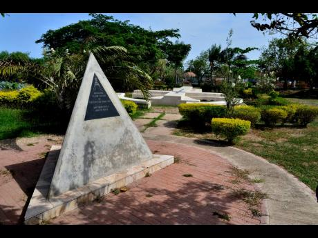 The Eventide Home Fire monument at National Heroes Park, Kingston. More than 140 people died in the May 20, 1980, blaze on Slipe Pen Road.