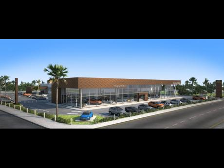Graphic representation of new Magna Motors dealership/Hyundai Jamaica showrooms.
