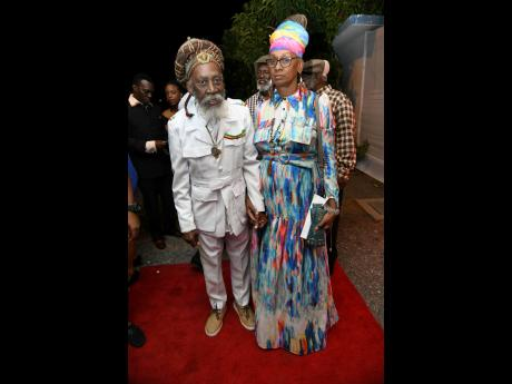 Bunny Wailer and Maxine Stowe at the JaRIA Honour Awards 2020 at the Little Theatre on Tom Redcam Drive, Kingston, on Tuesday, February 25, 2020.
