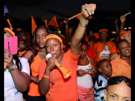 PNP supporters at a major meeting in St Mary.