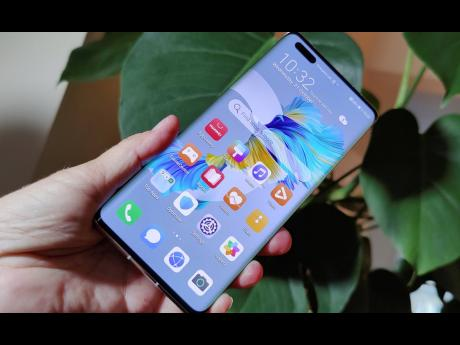 The new Huawei Mate 40 Pro smartphone.