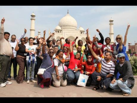 ITEC participants pose in front of the Taj Mahal. More than 350 Jamaicans have travelled to India for different ITEC courses.