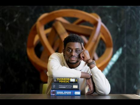 Illinois Institute of Technology student Wofai Ewa, originally from Nigeria, poses for a portrait Friday, September 18, 2020, at the institute's library in Chicago. America was always considered the premier destination for international students, with th
