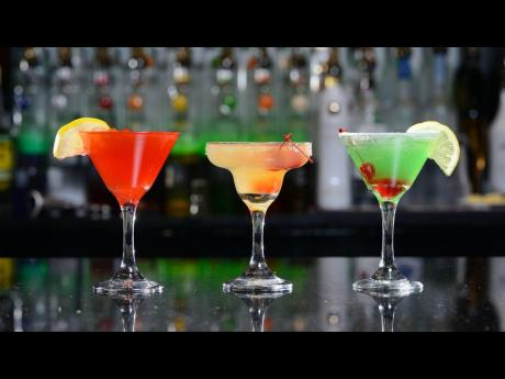 If drinks are your speciality, cheers with this intoxicating trifecta. From left: Cosmopolitan, Hennessy Margarita and Apple Martini.