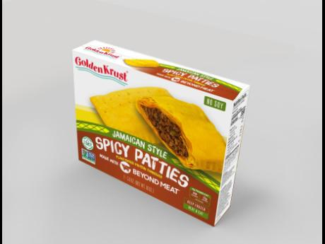 Golden Krust plant-based patties are made with Beyond Meat.