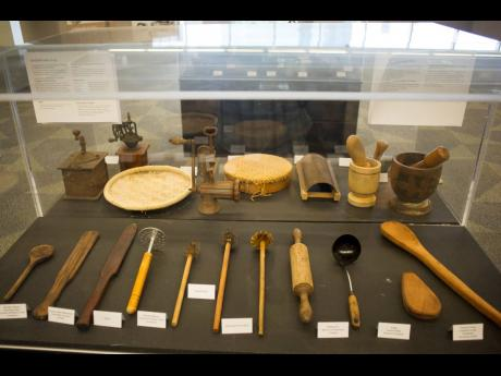 Artefacts on display at the 2019 Caribbean Culinary Museum pop-up exhibition, which will become a permanent part of the Island SPACE Caribbean Museum's cultural collection.