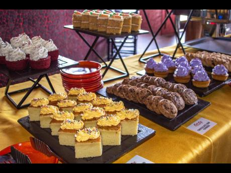 A decadent spread of sweet offerings available at Bubble and Spice's Sunday Brunch.