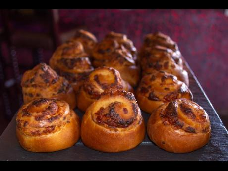 Fresh from the oven cinnamon buns will certainly sweeten your taste buds.