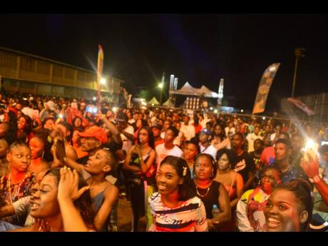 A section of the crowd at Ghetto Splash 2019.