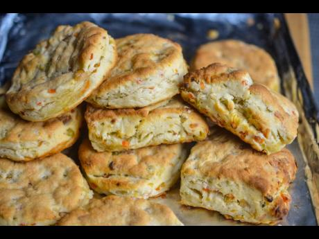 Treat your sweet tooth with these apple-stuffed biscuits.