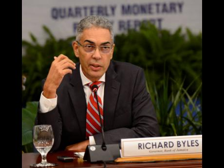 Governor of the Bank of Jamaica, Richard Byles.