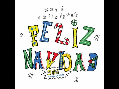 This cover image released by Media Services, Inc. shows the 50th anniversary release of the single 'Feliz Navidad' by Jose Feliciano.