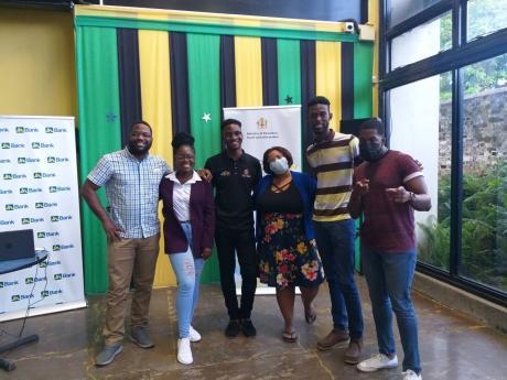 Members of the Youth Advisory Council (from left) Stephen McCubbin, Shaqkeera Douglas, Malike Kellier, Anabelle Jones, Lavois Cruickshank and Jonathan Dwyer