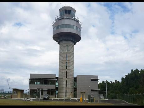 A section of Sangster International Airport showing the tower.