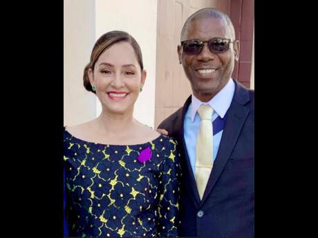 Irvin 'Louie' Brown, late councillor of the Fellowship division in Portland Eastern, in a recent photo with Member of Parliament Ann-marie Vaz.