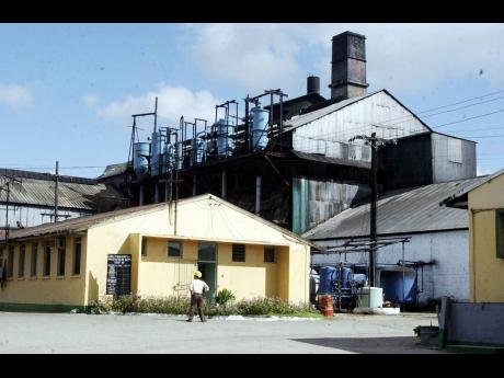 A section of the Long Pond Sugar Factory at Clark's Town, Trelawny, as seen in February 2005.