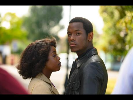 Martha (left), played by Amarah-Jae St Aubyn and Franklyn, played by Jamaica-born actor, Micheal Ward, in a scene from 'Lovers Rock'.