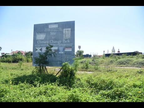The proposed site for the Climate Change Park in Portmore, St Catherine,