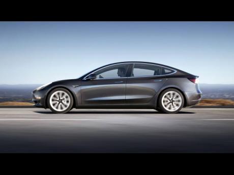 A Tesla Model 3 car.