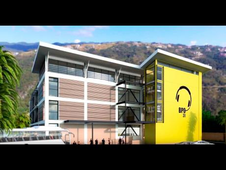 A graphic design of the building being developed at Ferry by CEAC Outsourcing.