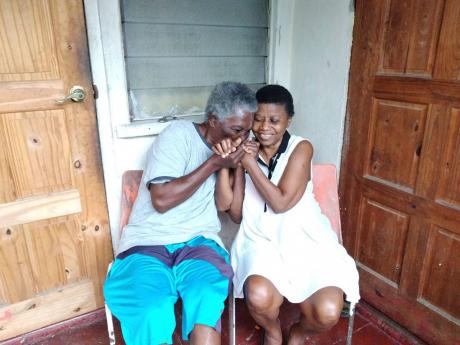 Elderly blind couple Clinton and Lorna Stewart at their current rented premises in Cockburn Gardens, St Andrew.