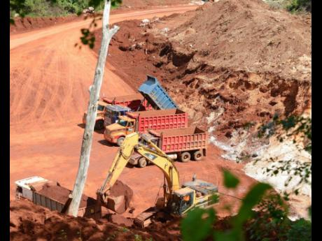 Mining operations in Harmons, Manchester.