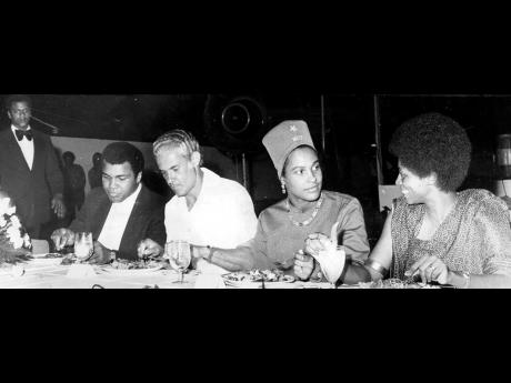 THE CLIMAX: The climax of the enthusiastic and hero-worshipping, historic visit of Muhammad Ali to Jamaica was the dinner given by the Prime Minister, Michael Manley, at Jamaica House on December 29. The Prime Minister hailed Ali as the superb athlete and