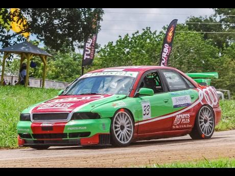 Bajan elder racer Doug Maloney always had fun in his Ex Audi Touring car, on his Jamaican visits.