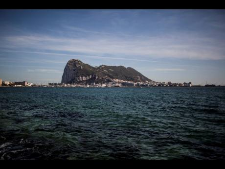 An aerial view of Gibraltar rock seen from the neighbouring Spanish city of La Linea.  AP
