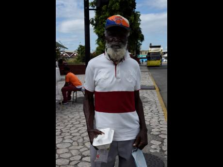 Eighty-one-year-old Roy Watson says he has been finding it difficult to find a room to rent in the Corporate Area. He was speaking with our news team after collecting a meal at the mayor's annual feeding of the indigent for New Year's Day at St William