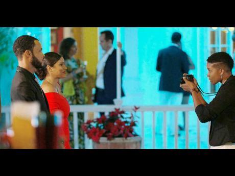 From left: Ramon Walker (Dimitri Gavins); Jovi Rockwell (Aria Sawyer) and Gabrielle Murdock (Janelle) in a scene from 'Traytown'.