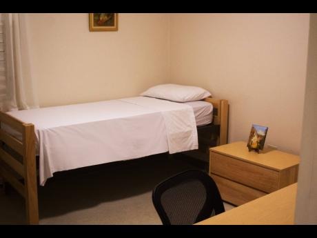 File  A bedroom at a 138 Student Living complex.