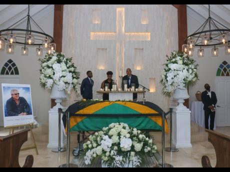 A special viewing and celebration of the life of Gordon 'Butch' Stewart at Sandals Montego Bay, St James yesterday