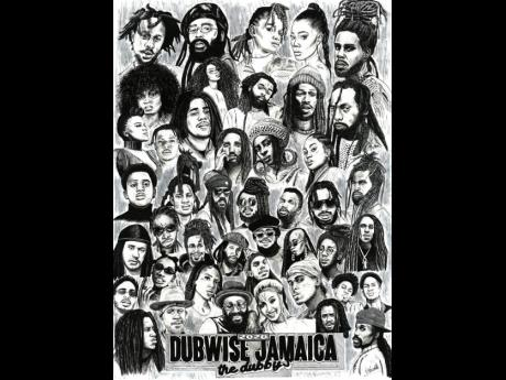 The nominees for Dubwise Jamaica's inaugural Dubby's Awards are illustrated by artist Ella Knot.