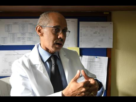 FILE Professor Michael Boyne, head of the Department of Medicine at the University Hospital of the West Indies.