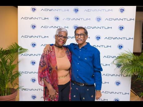 Charming couple: Harry and Charmaine Maragh were always together at the annual meetings of the Caribbean Shipping Association (CSA). The happy couple are pictured at a recent meeting of the CSA, where their smiles brightened up the room.