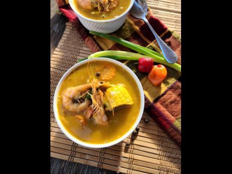 Chef Noel's seafood corn soup.