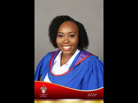 Valedictorian Shemara Rhoden, Bachelor of Medicine and Bachelor of Surgery, with Distinction.