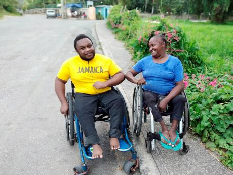 Marcus Banton and Vinnette Green, wheelchair users who complained about the challenges they face when using public transportation and taxis.